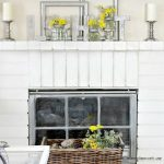Early Spring Home Decorating Ideas for Fireplace Mantels