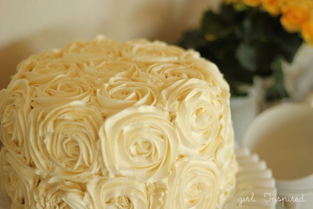 Strawberry-Vanilla Rose Cake with Buttercream Frosting Recipe :: FineCraftGuild.com