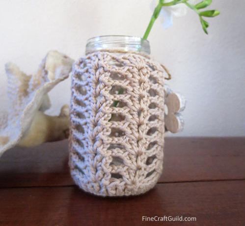 Mason jar cozy crochet pattern
