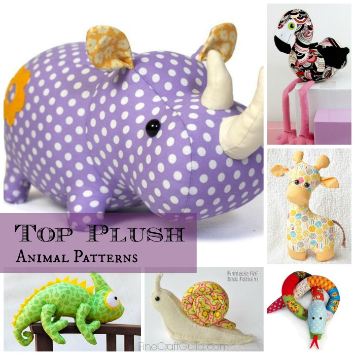 top 9 plush animals sewing patterns :: via FineCraftGuild.com