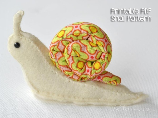toy snail plush sewing pattern