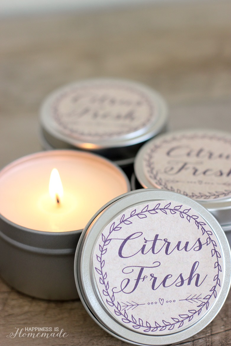 10-Minute-Gift-Idea-DIY-Citrus-Fresh-Soy-Candles - by HappinessIsHomemade - featured at FineCraftGuild.com
