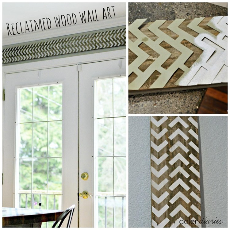 Reclaimed Wood Wall Art Collage