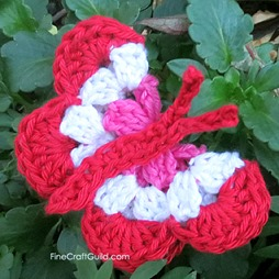 Butterfly crochet pattern by FineCraftGuild.com