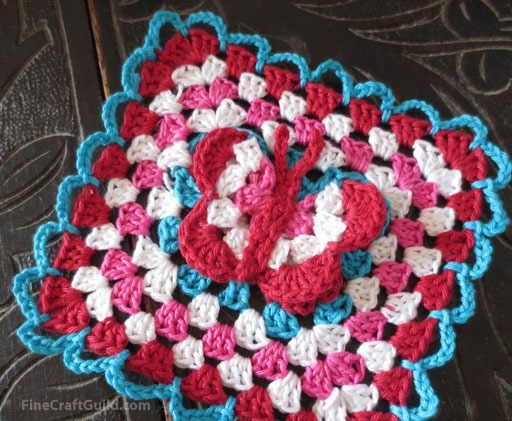 3d Butterfly Granny Square Crochet Pattern