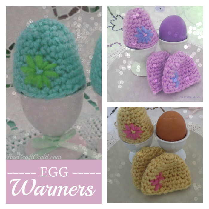 Easy egg warmers crochet pattern :: FineCraftGuild.com