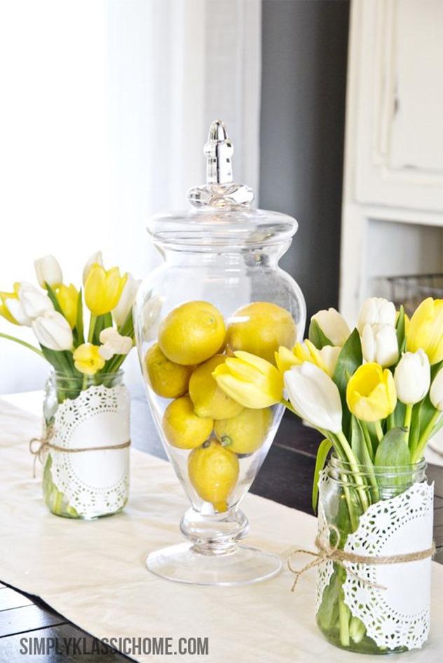 mason jar easter centerpiece