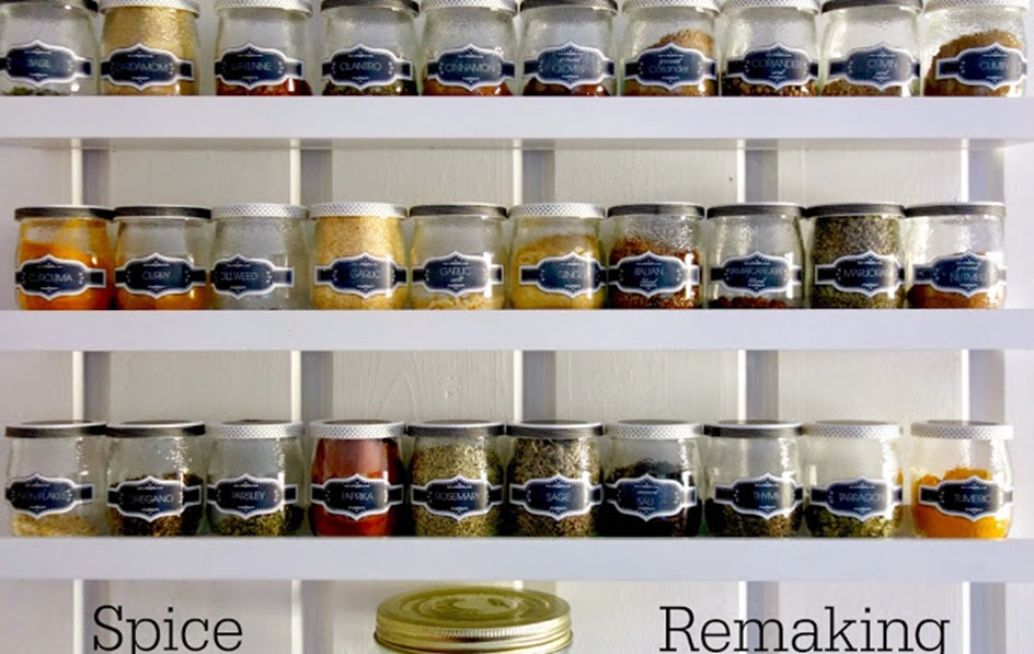 spruced_up_kitchen_spice_ jars_rack