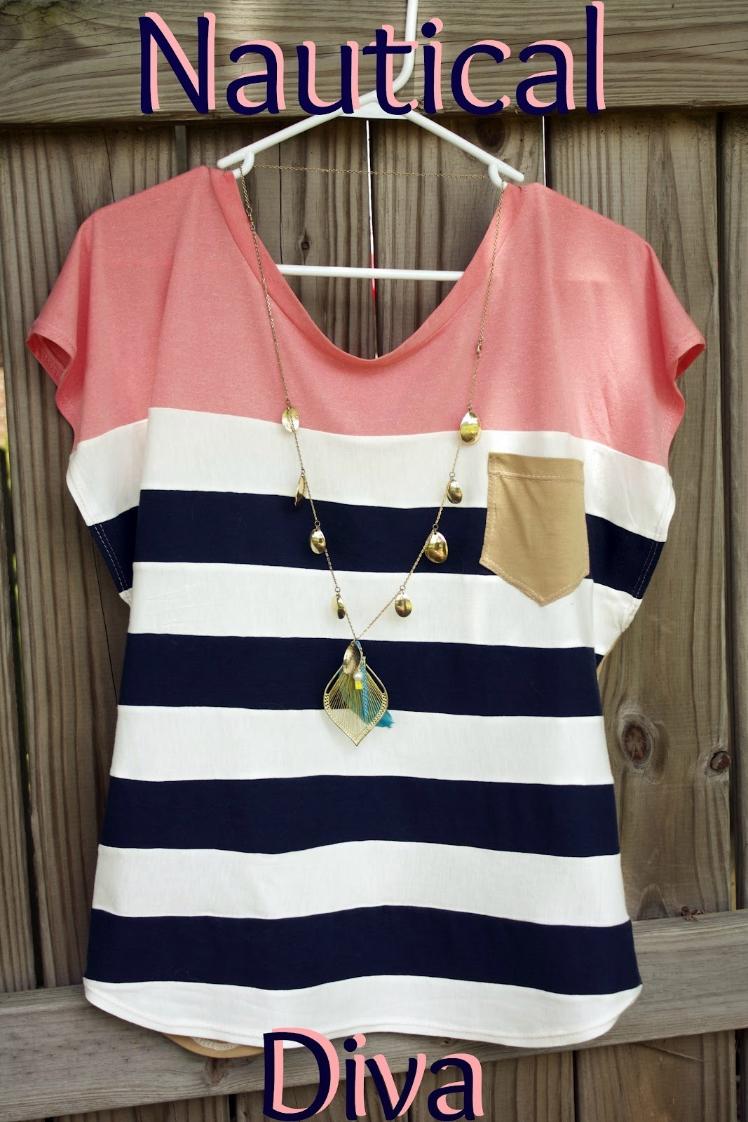 striped nautical womens top free sewing pattern