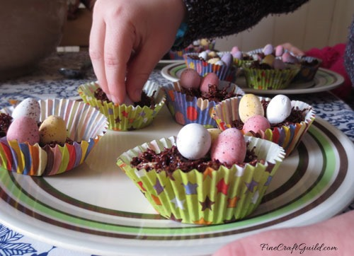 Easter egg chocolate nests recipe by FineCraftGuild.com