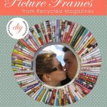 Recycled Magazine Picture Frames