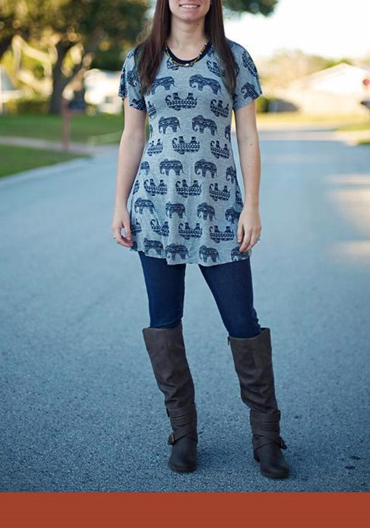 Easy Sewing Pattern for Plus-Size Women Top