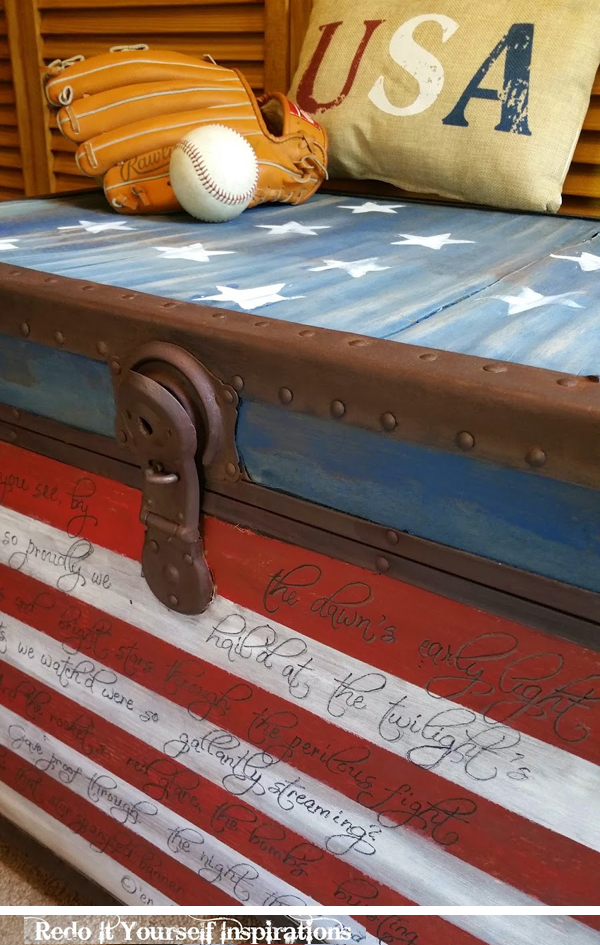 americana trunk makeover