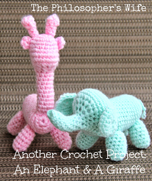 cute crochet ideas elephant-giraffe