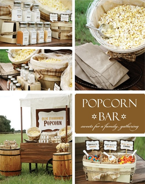 graduation_party_ideas_popcorn_bar :: Graduation Party Ideas