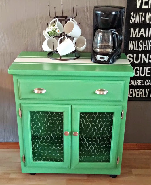 wooden cabinet makeover
