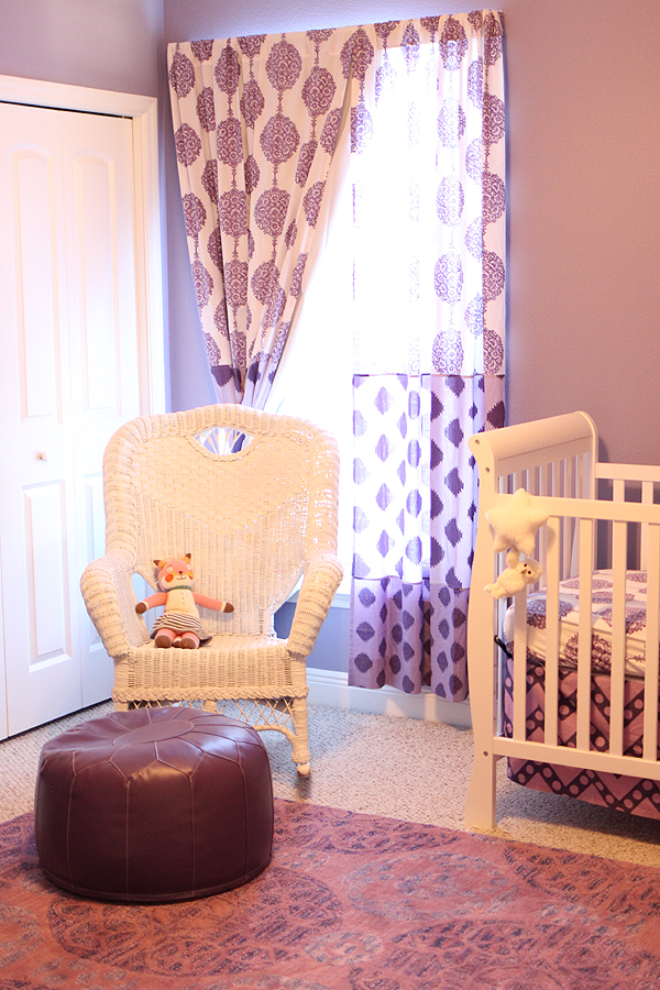 DIY Nursery Baby Bedroom Bedding in Creams and Purples