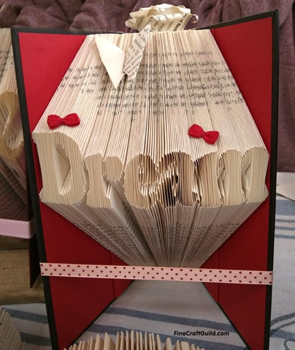 How to Fold Book pages into Letters –  Recycled Book Art Ideas