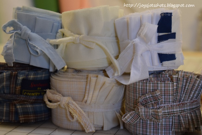 DIY Jelly Rolls from Recycled Men Shirts