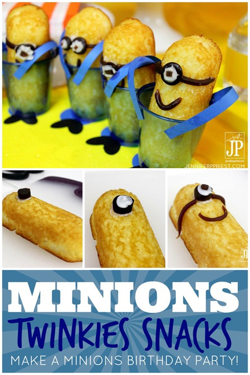 minions twinkies for boy birthday party theme despicable me