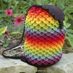 Awesome Rainbow Backpack Crochet Pattern in Crocodile Stitch