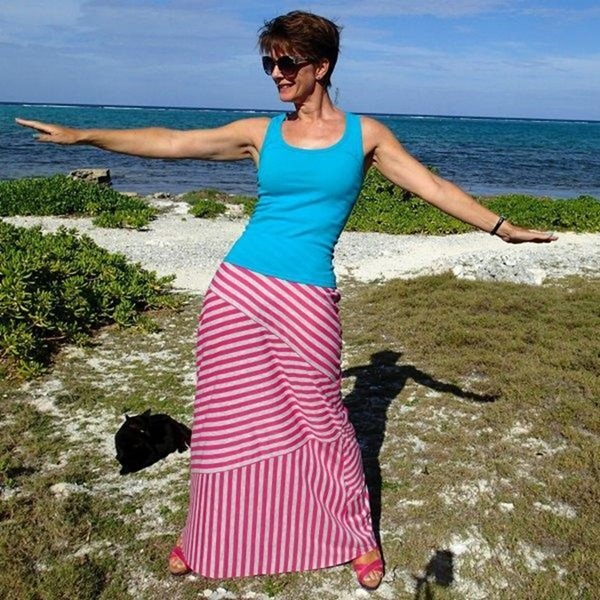 Tiered Maxi skirt free sewing pattern