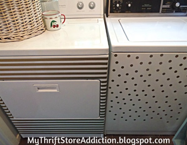 Laundry room makeover with Washer dryer decals