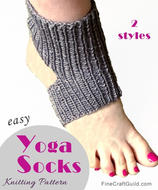 Easy Knitting Pattern For Yoga Socks : Easy Yoga Socks Knitting Pattern