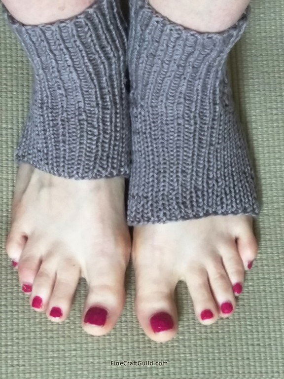 Long Easy Yoga Socks Knitting Pattern