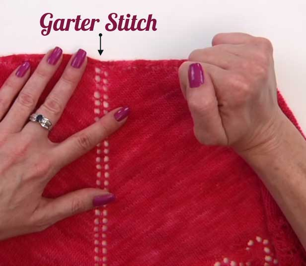 How to Knit the Garter Tab Video Tutorial