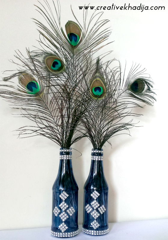 DIY Recycled Bottle Crafts : Painting & Jewels