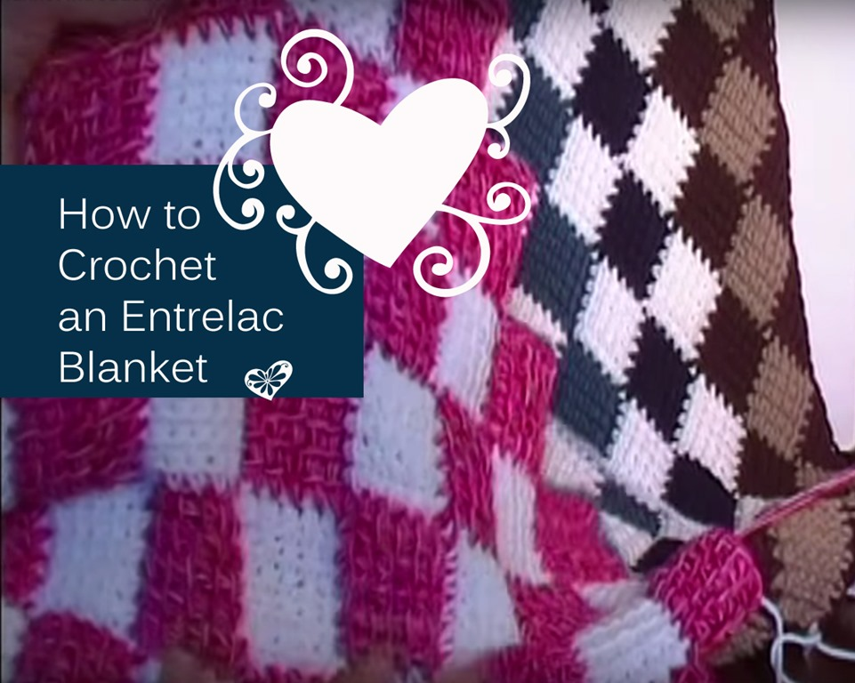 How to Make Entrelac Crochet Baby Blankets