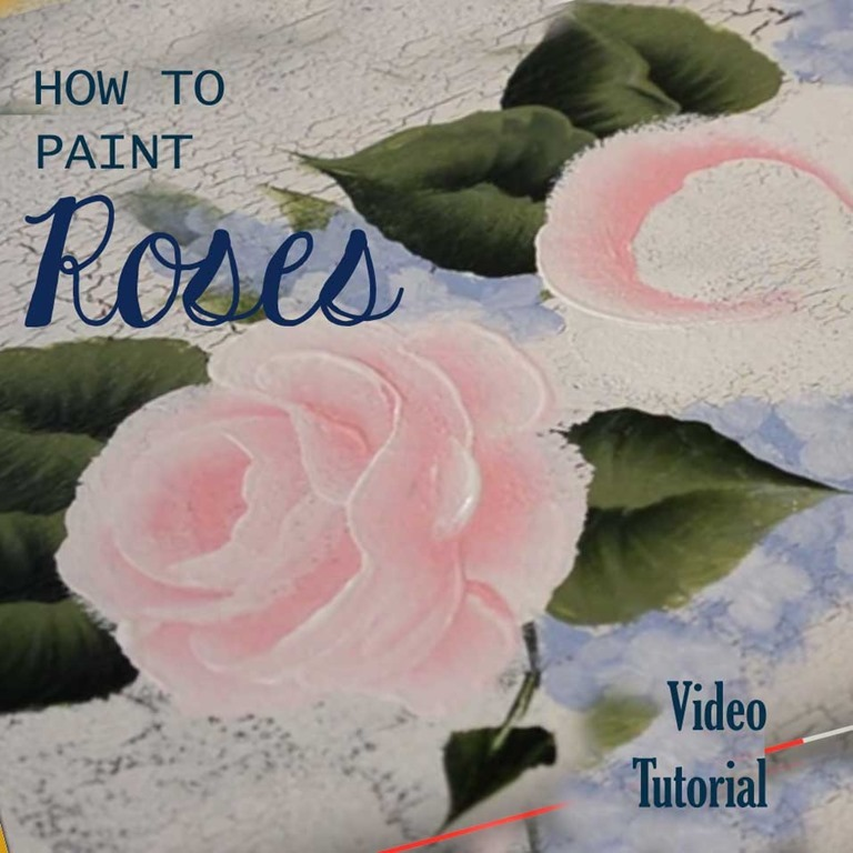 How to Paint Roses - free video tutorial