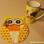 Candy Corn Owl Mug Rugs :: Quilting Design Ideas