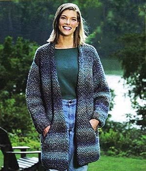 flattering long jacket crochet pattern