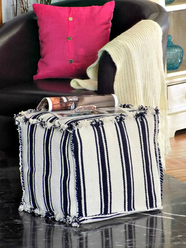 DIY Rugs Pouf Ikea Hack