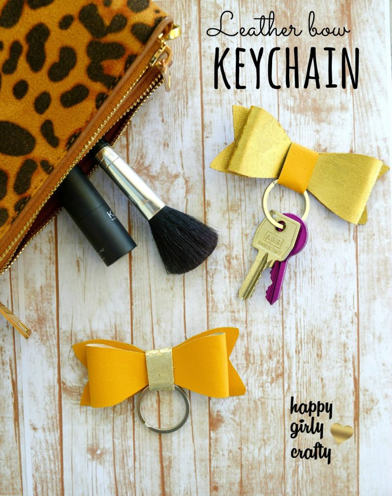 How to Make a Key Fob Bow, by Ntina from Happy Girly Crafty, featured at FineCraftGuild.com