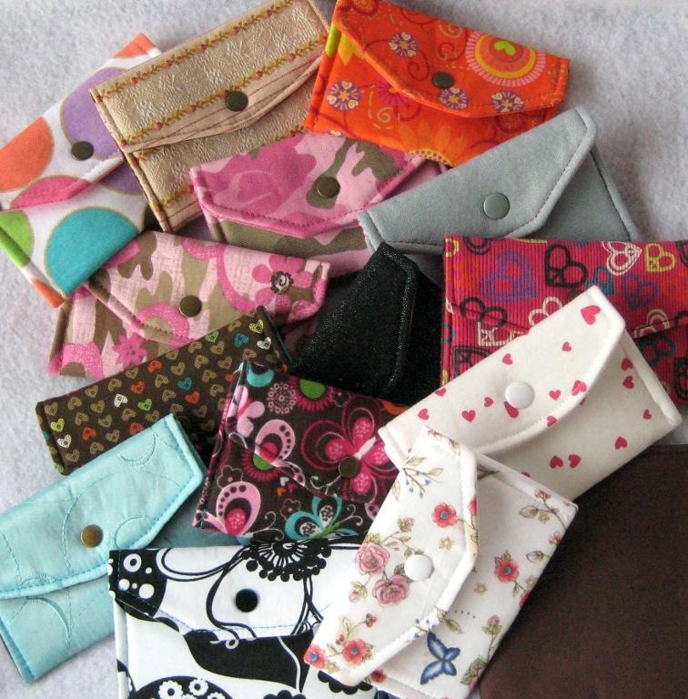 mini wallets free sewing pattern