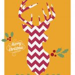 Free Downloadable Christmas Cards – Chevron Deer