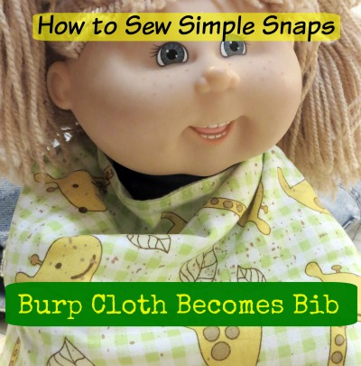 DIY Baby Bib Pattern - free sewing pattern with snap buttons