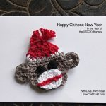 Sock Monkey Crochet Pattern for Chinese New Year Card