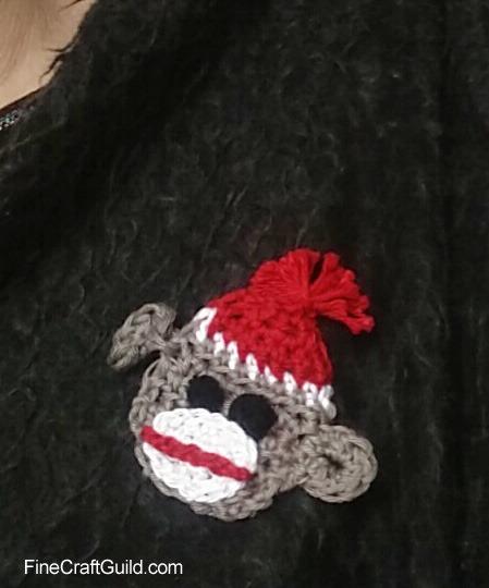 Flat Sock Monkey Crochet Pattern by FineCraftGuild.com