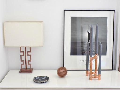 Industrial DIY Wooden Copper Candleholder