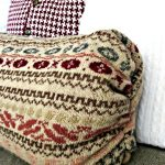 DIY Pillows recycled sweaters as home decor