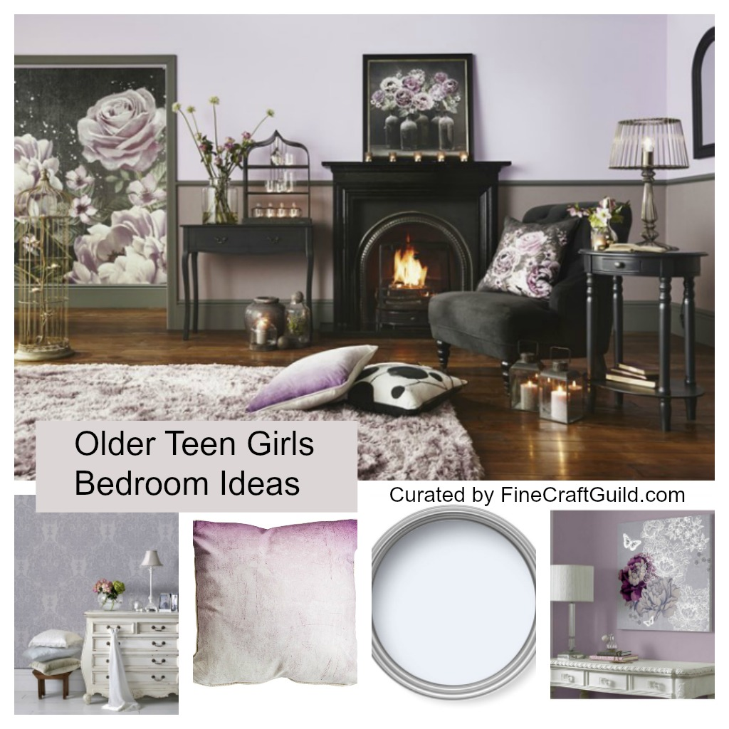 Floral-Teen-Older-Girls-Bedroom-Ideas