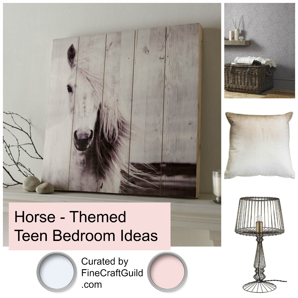 Horse theme teen bedroom ideas - curated by FineCraftGuild