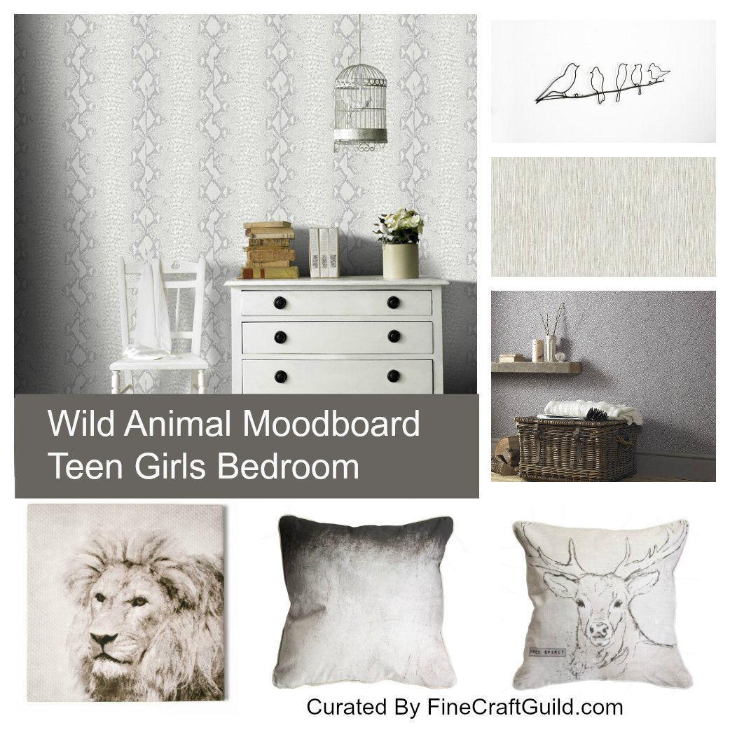 wildanimal_teengirls_bedroom - by FineCraftGuild.com
