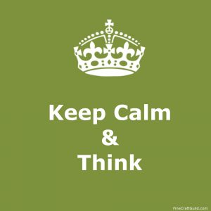 keep calm gallery  - keep calm and think