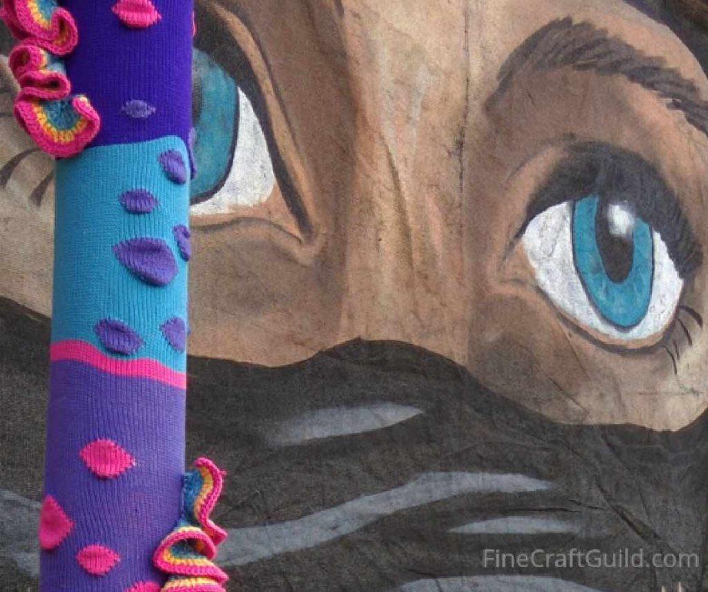 I love yarn day -yarnbomb -BrightonUK