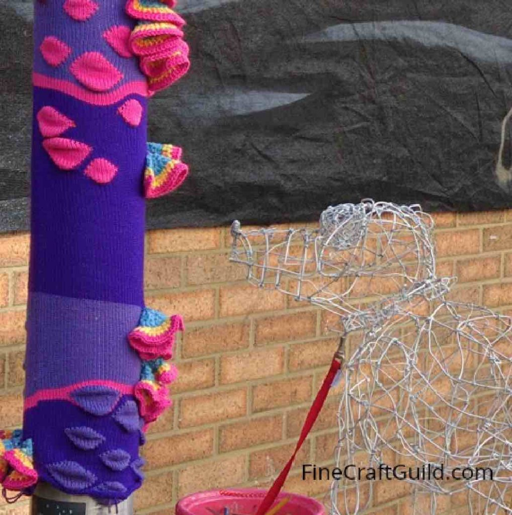 I love yarn day yarn bomb BrightonUK1